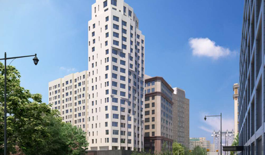 22 Chapel Street Tops Out Over Downtown Brooklyn
